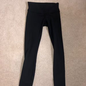 Slightly cropped black lululemon leggings